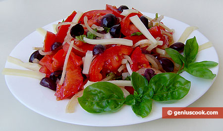 Tomato Salad with Olives