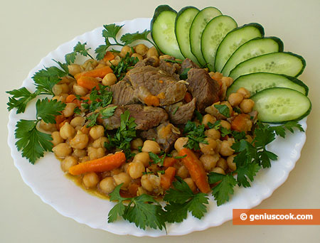 Chickpea with Beef and Rosemary