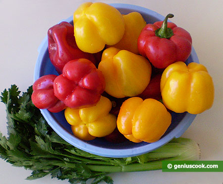 Ingredients for Marinated Sweet Pepper