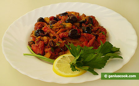 Pepper with Capers and Olives