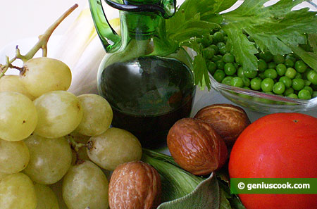 Vegetables, Fruits, Nuts and Olive Oil