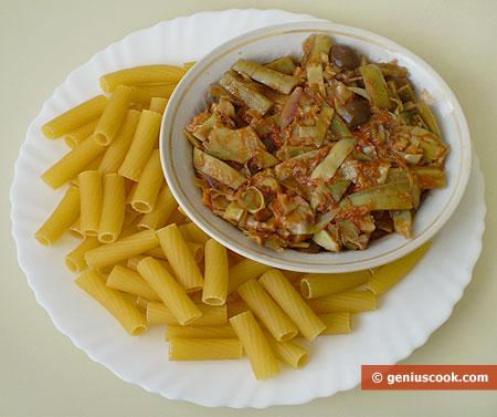 Ingredients for Tortiglioni with Artichoke Sauce