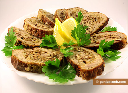 Meat Rolls with Walnuts and Cheese