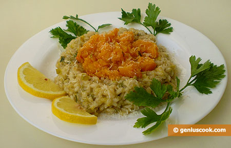 Risotto with Leek and Pumpkin