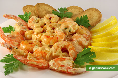 Tiger Shrimps in Creamy Sauce