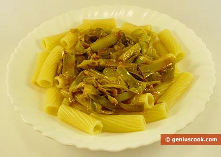 Tortiglioni with Artichoke Sauce