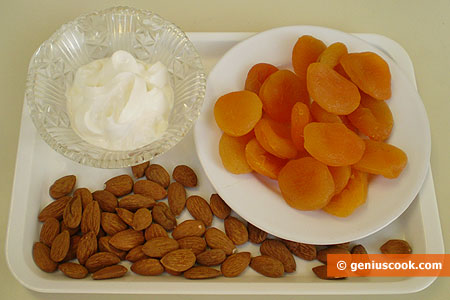 Ingredients for Dessert with Dried Apricots