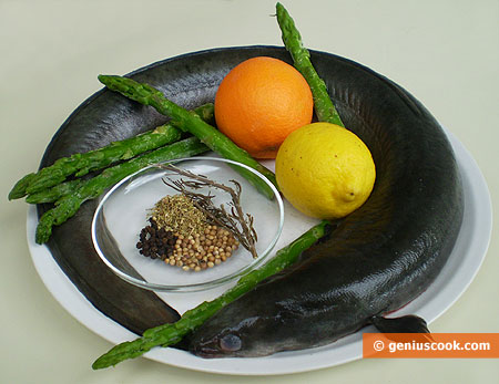 Ingredients for Eel in Orange Marinade
