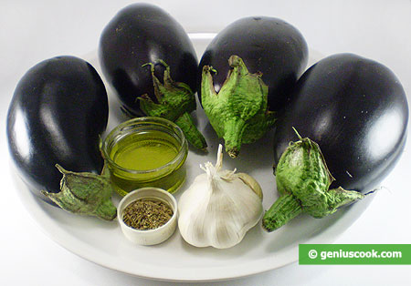 Ingredients for Eggplants in Olive Oil