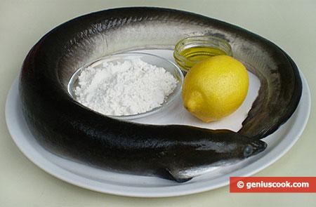 Ingredients for Fried Eel