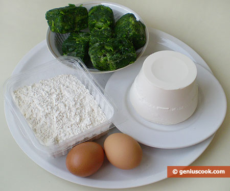 Ingredients for Ravioli with Ricotta and Spinach