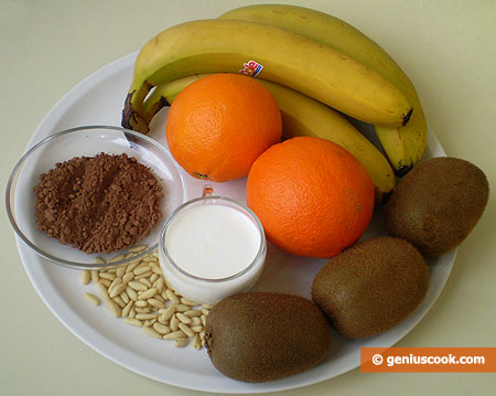 Ingredients for Brazil Fruit Salad