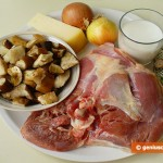Ingredients for Julienne with Turkey and White Mushrooms