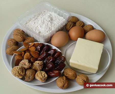 Ingredients for Rich Cakes with Dates