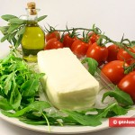 Ingredients for Salad with Arugula, Mozzarella and Tomatoes