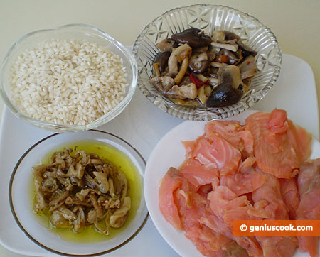 Ingredients for Salad with Smoked Salmon