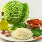 Ingredients for Savoy Cabbage with Rice