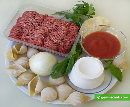 Ingredients for Stuffed Shell Pasta