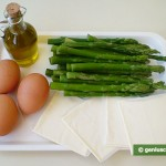 Ingredients for Asparagus with Eggs and Cheese