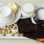 Ingredients for Cream and Chocolate Mousse