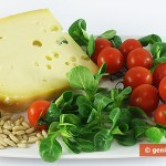 Ingredients for Salad with Valerian, Tomatoes and Cheese