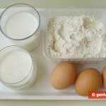 Ingredients for Thin Pancakes