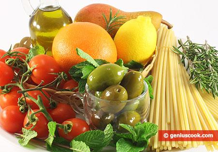Components of the Mediterranean diet