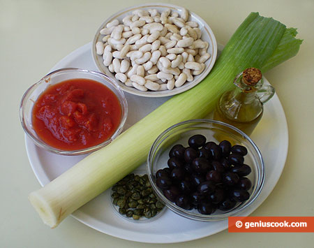 Ingredients for Beans with Olives and Capers