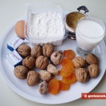 Ingredients for Buns with Nuts, Figs and Dried Apricots