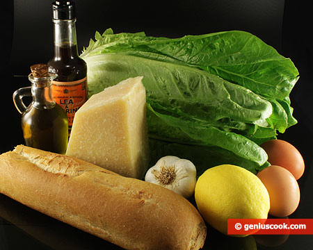 Ingredients for Caesar's Salad