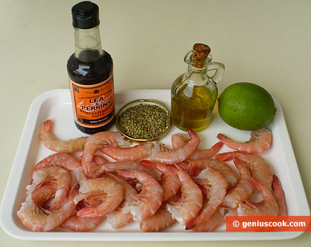 Ingredients for Fried Shrimps