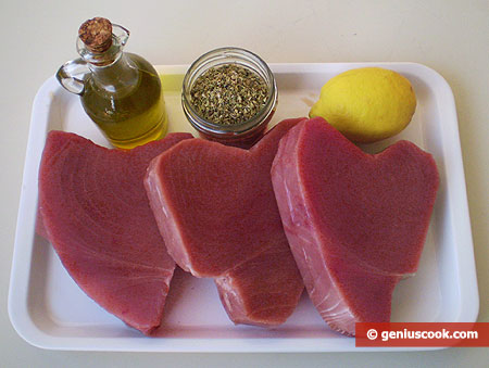 Ingredients for Grilled Tuna Stakes