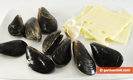 Ingredients for Mussels Baked in Their Shells