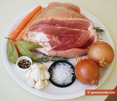 Ingredients for Pork Shank