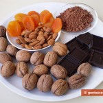 Ingredients for Homemade Chocolates with Nuts