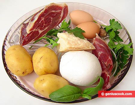 Ingredients for Gatto di Patate
