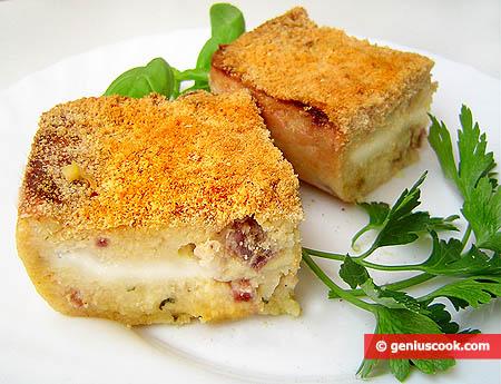 """Pieces of Potato Cake """"Gatto di Patate"""""""