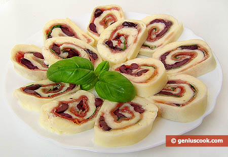 Prosciutto Ham Stuffed Mozzarella Roll