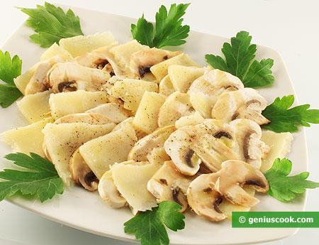 Champignons Carpaccio with Parmesan