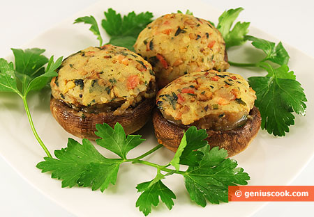 Field Mushrooms Stuffed with Potato and Brisket