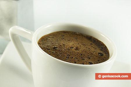 Fragrant Strong Coffee Espresso in Italian
