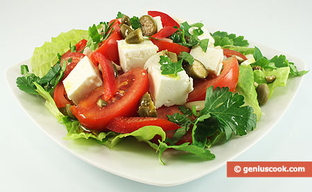 Greek Salad with Capers
