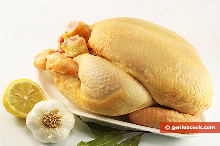 Ingredients for Chicken Baked in an Oven