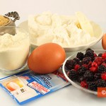Ingredients for Cottage Cheese Pudding with Berry Dressing