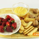 Ingredients for Dessert with Lemon Curd and Strawberries