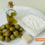 Ingredients for Focaccia with Olives