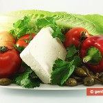 Ingredients for Greek Salad with Capers