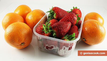Ingredients for Strawberry in Orange Juice
