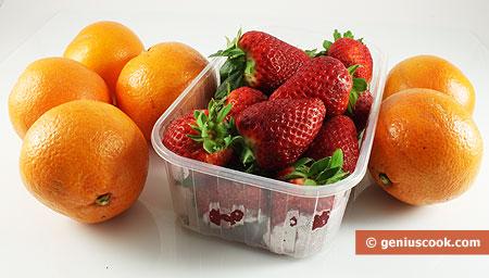 Ingredients for Strawberry in Orange Juice