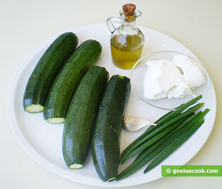 Ingredients for Zucchini with Philadelphia Cheese, Spring Onion and Garlic